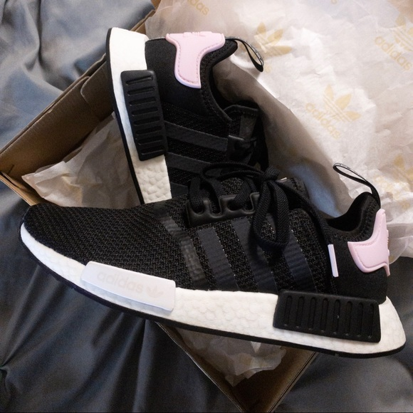 5c9c69e6048c0 adidas NMD R1 Core Black Clear Pink